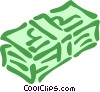 stack of money Vector Clipart picture