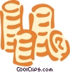 Vector Clipart graphic  of a coins