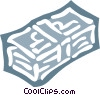 Vector Clip Art image  of a stack of money