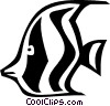 Vector Clipart picture  of an angel fish