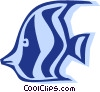 Vector Clip Art graphic  of an angel fish