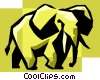 elephant Vector Clip Art graphic