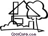 single family home Vector Clipart graphic