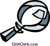 Vector Clip Art picture  of a magnifying glass