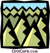Vector Clip Art picture  of a forest