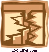 Vector Clip Art graphic  of a earthquake