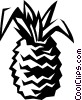 Vector Clip Art image  of a pineapple