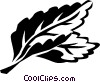 Vector Clipart graphic  of a spearmint