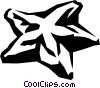 Vector Clipart graphic  of a star fruit