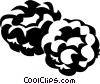 Vector Clip Art image  of a raspberries
