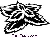 Vector Clip Art image  of a dogwood