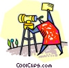 Vector Clip Art graphic  of a surveyors