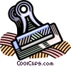 Vector Clipart graphic  of a bulldog clip