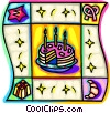 birthday cake Vector Clip Art picture