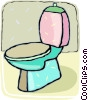 Vector Clipart image  of a toilet bowl