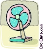 Vector Clip Art graphic  of a electric fans