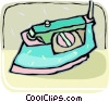 electric iron Vector Clipart graphic