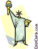 Vector Clipart image  of a statue of liberty