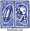 football and football helmet Vector Clipart picture