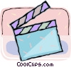 Vector Clipart image  of a clapboard