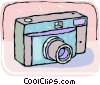 Vector Clipart graphic  of a 35mm camera