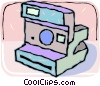 Polaroid camera Vector Clip Art picture
