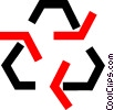 recycle symbol Vector Clip Art picture