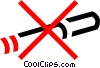no smoking sign Vector Clipart illustration