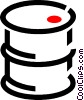 oil drum Vector Clipart graphic