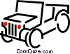 Vector Clip Art graphic  of a jeep