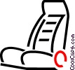 airline seat Vector Clipart graphic