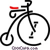 Vector Clip Art graphic  of a penny farthing bicycle