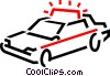 police car Vector Clip Art graphic