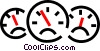 gauges, dashboard Vector Clipart image
