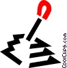 Vector Clip Art graphic  of a gear shift