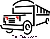 Vector Clip Art image  of a school bus
