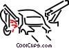 Vector Clipart graphic  of an automotive manufacturing