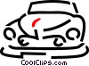 Vector Clip Art picture  of a vintage car