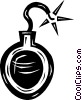 Vector Clipart graphic  of a bomb