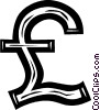 Vector Clip Art graphic  of a British pound symbol