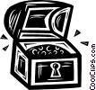 Vector Clipart image  of a treasure chest