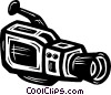 Vector Clip Art graphic  of a video camera