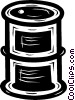 Vector Clipart image  of a oil drum
