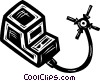 Vector Clip Art image  of a electric plug