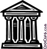 Vector Clipart image  of a bank symbol