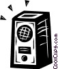 Vector Clipart image  of a stereo speaker