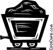 Vector Clip Art image  of a coal car