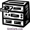 Vector Clipart graphic  of a stereo system