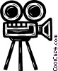 Vector Clipart image  of a motion picture camera