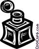 Vector Clip Art picture  of a ink well